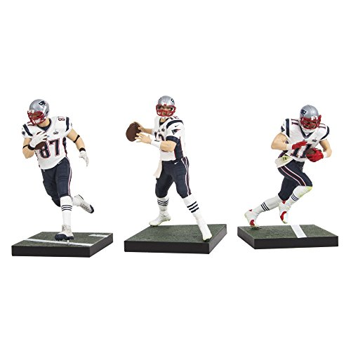 McFarlane Toys NFL New England Patriots Super Bowl Action Figure (Pack of 3) by McFarlane