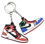 5-Pack Silicone Shoe Keychains -Top Brand Basketball Shoe Brands