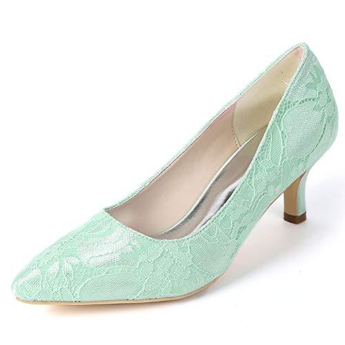 Básica Blanco Gatito Novia Verano Mujeres De yc Green Boda Fy160 Tacones Bajo Chunky 6cm Altos Las L Zapatos Primavera xwOq0nwZ