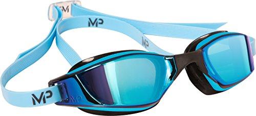 Michael Phelps 139080 Xceed Titanium Mirror Swimming Goggles - Blue/Black - Titanium Blue - Mirror Michaels