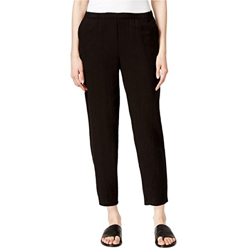 Eileen Fisher Womens Slim Leg Solid Ankle Pants Black S (Eileen Fisher Slim Pants)