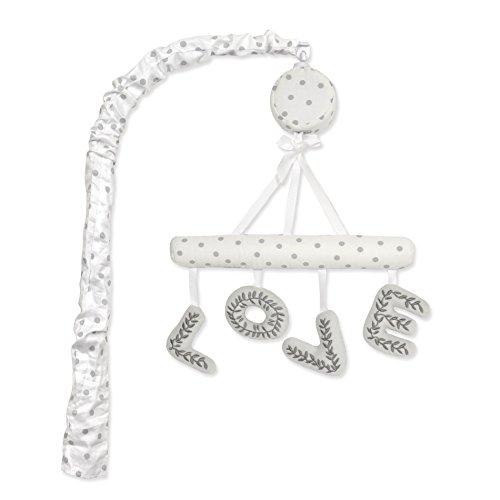 Just Born Ruffled Medallions Love Musical Crib Mobile, White - Love Musical Mobile