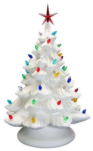 ceramic-bisque-ready-to-paint-large-christmas-tree-base-light-up-electrical-cord-bulb-multi-colored-