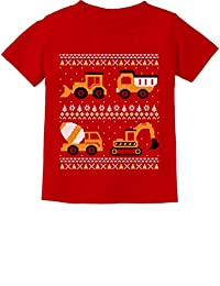 Tractors & Bulldozers Ugly Christmas Sweater Toddler/Infant Kids T-Shirt