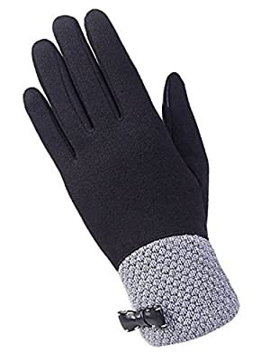 Panegy Womens Winter Gloves Touch Screen Thick Warm Mittens