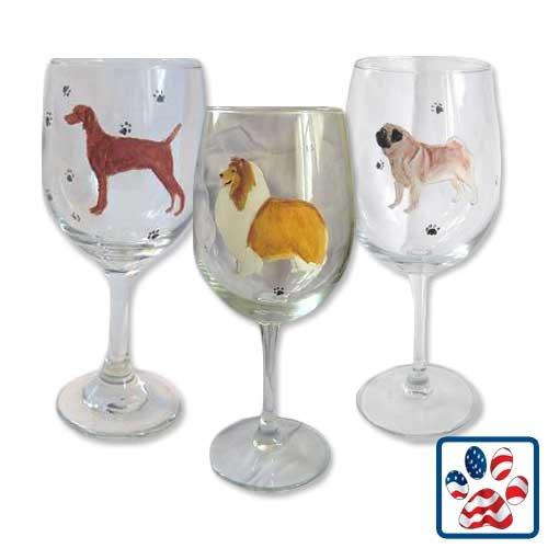 Showstopper Jewelry Standing Dog Wine Glass Thai Ridgeback