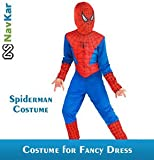 NAVKAR Spiderman Costume Fancy Dress Outfit Suit Mask Children (3-4) / Spiderman Kids Costume Wear/ Birthday Party fancy Dress