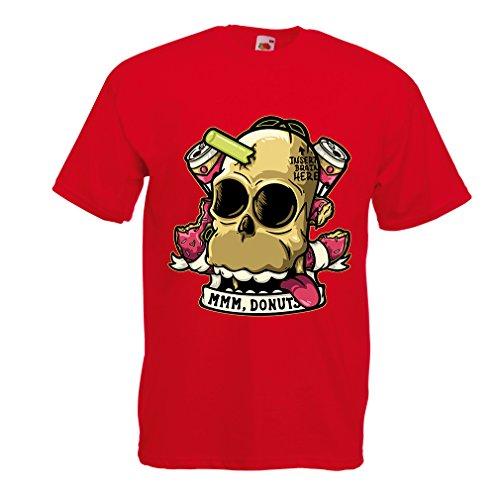 lepni.me N4413 T Shirts for Men Insert Brain Here (Medium Red Multi Color) -