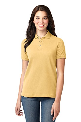 Port Authority Ladies Heavyweight Cotton Pique Polo XL Yellow