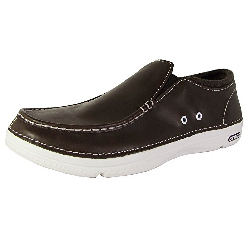 Crocs Mens Thompson Ii.5 Low Moc Toe Loafer Shoes, Espressowhite, Us 9