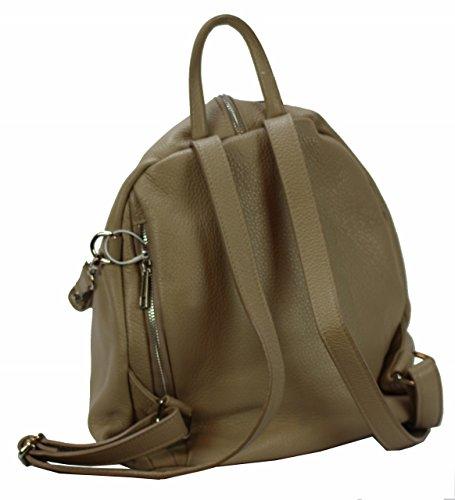 Bozana Bag Mara Beige Backpacker Designer Rucksack Ledertasche Damenhandtasche Schultertasche LederItalyNeu