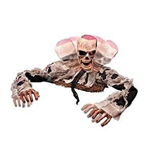 2.5 ft. Escape from the Grave Full Size Torso Zombie with Light Up Eyes with Sound Effects