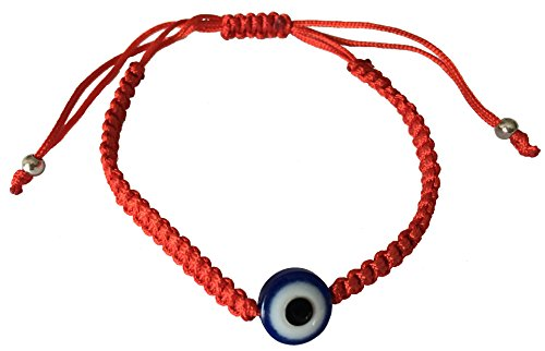 Meaningful Beauty Eye - BT Weaved Red String Contemporary Kabbalah Bracelet with Blue Evil Eye for Protection and Blessing