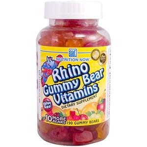 (Nutrition Now Rhino Gummy Bear Vitamins ( 180 Chews ) ( Multi-Pack))
