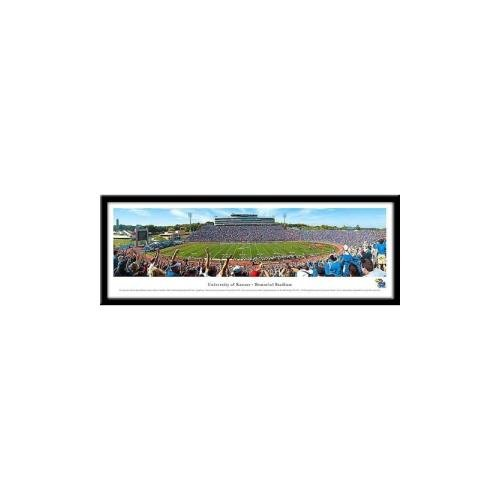 Landmark Publishing Kansas Jayhawks Memorial Framed Panoramic Stadium Print (Memorial Stadium Panoramic Print)