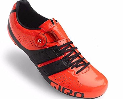 Giro Fattore Techlace Vermillon Nero Scarpe Da Bici Da Strada