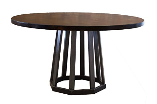 Rustic Industrial Round Pedestal Table (60