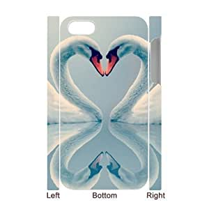 ALICASE Diy 3D Protection Hard Case Swan For Iphone 5C [Pattern-1]