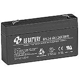 B.B. Battery 6V 1.2Ah Battery T1 Terminal, BP1.2-6-T1