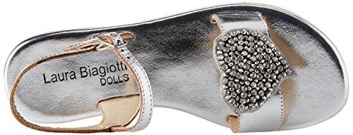 silver 4146 Ouvert 3643 Sandales Biagiotti Argenté Laura L Bout Fille Dolls xq1HHa6wzO