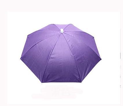 Headwear Sun Umbrella Pesca Senderismo Playa Camping Headwear Sombreros de Cabeza Outdoor Sport Paraguas Sombrero,
