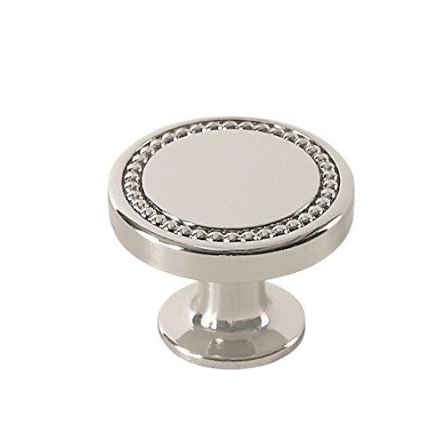 Amerock BP36580PN Carolyne 1-3/8 in (35 mm) Diameter Polished Nickel Cabinet - Traditional Mushroom Polished Knobs Nickel