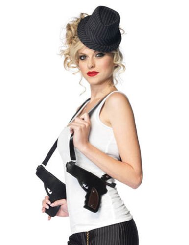 Gangster Dbl Gun Holster Adult Womens Costume