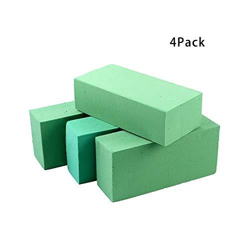 4Pcs Floral Foam Bricks, Premium Floral Foam Blocks for Fresh Cut Floral Arrangements, Florist Flower Styrofoam Green Bricks Applied Dry or Wet, - Floral Ewer