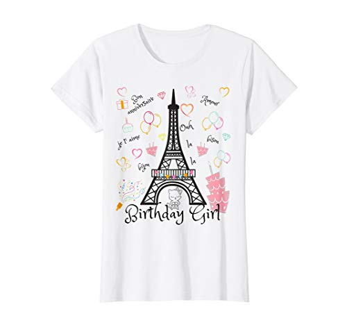 Paris Eiffel Tower Birthday Girl T-Shirt]()