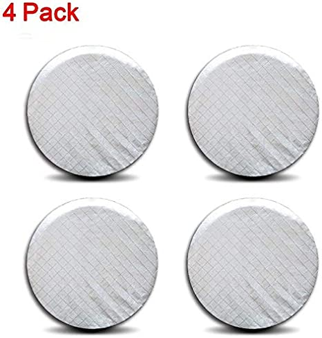 Ximan Rigging 4 Pieces Set Tire Covers Sun UV Protect Waterproof Aluminum Film Cotton Lining for 27-29 RV Wheel Protector for Trailer Truck Camper Auto Motor Home Black