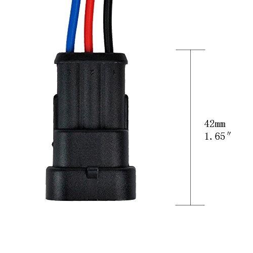 MUYI 5 Kit 3 Pin Way 18 AWG Waterproof Connector Wire 1.5mm Series Terminal Connector Plug Black by MUYI (Image #6)