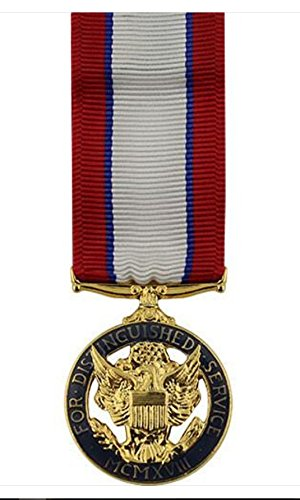 Vanguard MINIATURE MEDAL- 24K GOLD PLATED ARMY DISTINGUISHED SERVICE - Award Service Distinguished