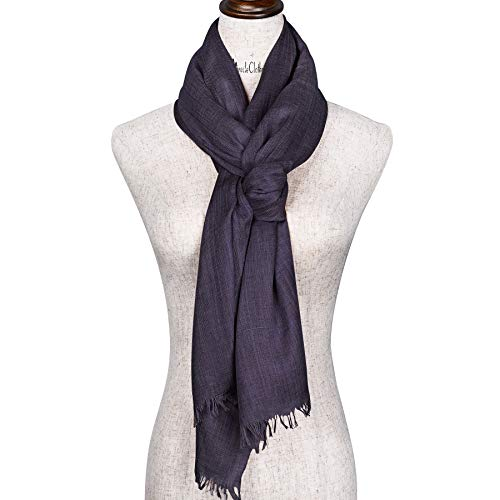 carf in Solid Color Large Sheer Shawl Wraps for Evening,Scarf woven with various threads (Black) ()