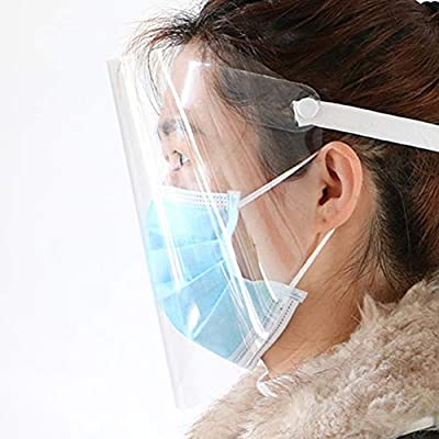 FANTESI Visiera protettiva trasparente e affusolato anti-appannamento paraspruzzi antipolvere protegge la visiera anti-goccia