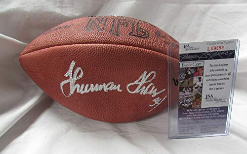 - Thurman Thomas Autographed Signed Autograph Wilson NFL Game Model Football With JSA Authentic Certificate