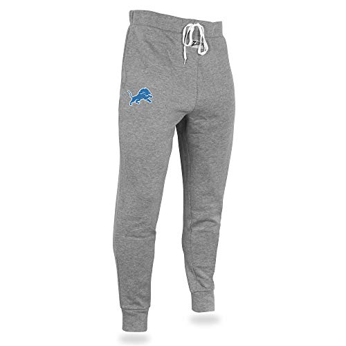 Zubaz Men's NFL Joggers, Gray, X-Large (Detroit Lions Pajamas Mens)