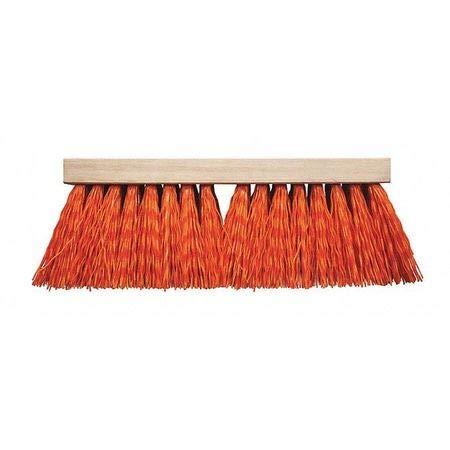 16' Street Broom - Street Broom, Orange, Plastic, 16'
