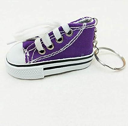 Smallstone Keychian Creative Mini Zapatos de Lona del Coche ...