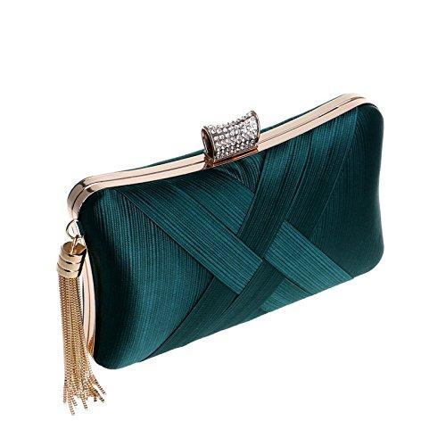 Ladies bag Fly Banquet Bag evening Dress Europe Silk Evening Bag Imitation Green Bag Evening America ZrRZYU