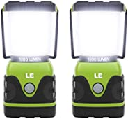 LE Outdoor LED Camping Lantern, 1000LM, Dimmable, Battery Powered, Water Resistant Camping Light, Portable Cam