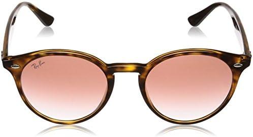 Ray-Ban Men\'s 0rb2180f Non-Polarized Iridium Round Sunglasses, Havana, 51.6 mm