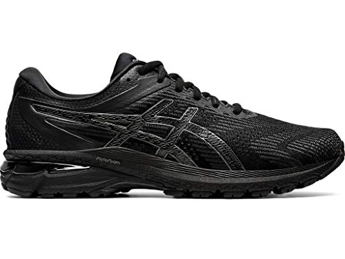 ASICS Men's GT-2000 8 (2E) Shoes, 10.5W, Black/Black