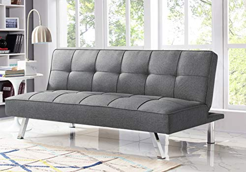 Serta RNE-3S-CC-SET Rane Collection Convertible Sofa, L66.1 x W33.1 x H29.5, Charcoal