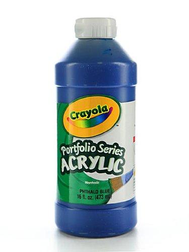 ries Acrylic Paint phthalo blue 16 oz. [PACK OF 2 ] (Crayola Portfolio Series Acrylic Paint)