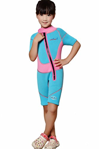 2.5mm Neoprene Wetsuit One Piece Swim Shorts for Kids Youth's Shorty ()