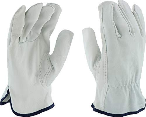 West Chester 991K Leather Glove, Shirred Elastic Wrist Cuff, 10.25