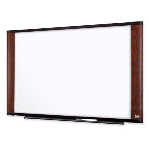 3M M9648MY - Melamine Dry Erase Board, 96 x 48, Mahogany Frame-MMMM9648MY