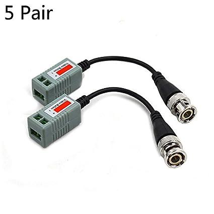 FidgetFidget Connector 10Pcs Mini Camera Video Balun BNC CAT5 Coaxial CCTV UTP Extender Cable