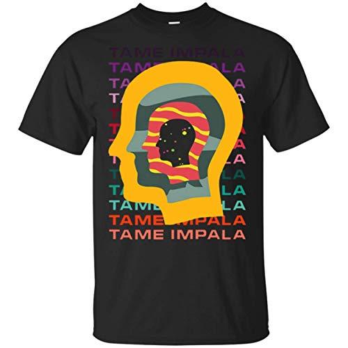 - Tame Impala T Shirt Men Funny Letter Print Short Sleeve Tees Tops Black