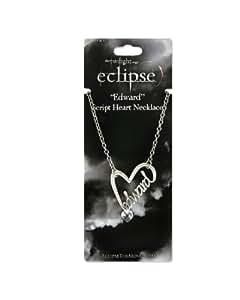 "Twilight ""Eclipse"" Edward Script Heart Necklace"